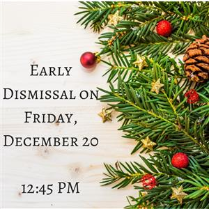 Early Dismissal Image-Christmas