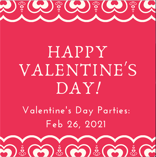 valentine party graphic