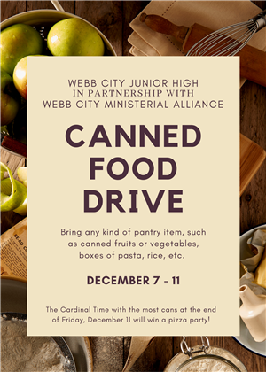Canned Food Drive Dec 7-11